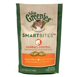 Feline Greenies SmartBites Hairball Control - Chicken, 2.1 oz
