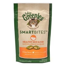 Feline Greenies SmartBites Healthy Skin & Fur - Chicken, 2.1 oz