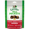 Greenies Pill Pockets Dog, Hickory Smoke - Capsule Size, 6 x 30 Count