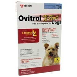 Ovitrol X-Tend Flea & Tick Spot On For Toy Dogs 6-12 lbs, 3 Months