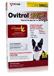 Ovitrol X-Tend Flea & Tick Spot On For Small Dogs 13-31 lbs, 3 Months