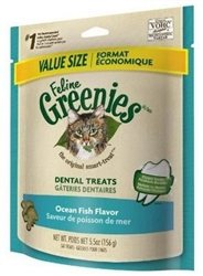 Feline Greenies Dental Treats, Ocean Fish Flavor, 5.5 oz