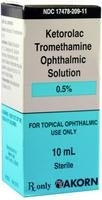 Ketorolac Tromethamine Ophthalmic Solution 0.5%, 10 ml