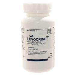 Levocrine Thyroid Chewable Tablets 0.5mg, 1000 Count