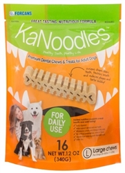 KaNoodles Premium Dental Chews & Treats - Large Dogs, 16 Chews