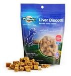 Petsafe Liver Biscotti Dog Treat Original Recipe Small Bite Size, 8oz