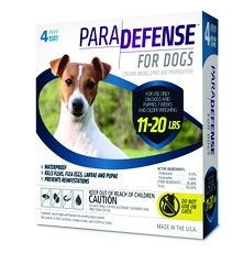 ParaDefense For Medium Dogs 11-20 lbs, 4 Pack
