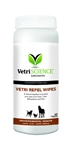 Vetri Repel Wipes Natural Repellent For Cats & Dogs, 60 Wipes
