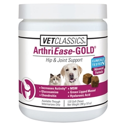 Vet Classics ArthriEase-Gold Hip & Joint Support, 120 Soft Chews