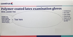 Latex Exam Gloves, Powder-Free, X-Small, 100/Box