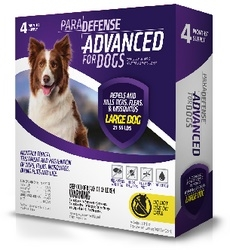 ParaDefense ADVANCED For Large Dogs 21-55 lbs, 4 Pack