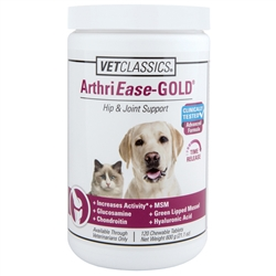 Vet Classics ArthriEase-Gold Hip & Joint Support, 120 Chewable Tablets