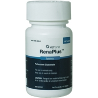 VetOne RenaPlus (Potassium Gluconate), 100 Tablets