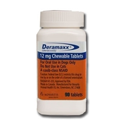 Deramaxx (Deracoxib) Chewable Tablets 12mg, 90 Tablets