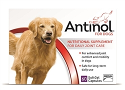 Antinol Joint Health Supplement For Dogs, 60 SoftGels
