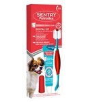 Petrodex Dental Kit For Puppies & Small Dogs - Poultry Cool Mint Toothpaste 2.5 oz