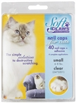 Soft Paws Nail Caps For Cats, Small 6-8 lbs, 40 Caps Clear