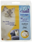 Soft Paws Nail Caps For Cats, Medium 9-13 lbs, 40 Caps Clear