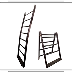 Weathered Black LadderRack Quilt Display Ladder- 7 Rung Model