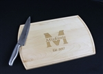 Choose and name and get it engraved for free on solid maple cutting board