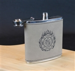 Engraved Firefighter Flask