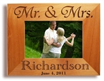 Engraved Wedding Picture Frame