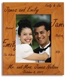 Engraved Wood Picture Frame Wedding Present image