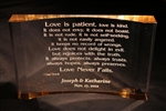 Love is Patient Engraved Acrylic Plaque