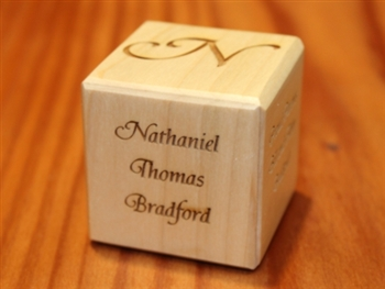 Mini engraved baby block image