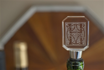 Personalized Glass Wine Stopper