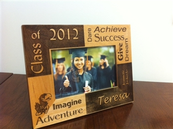 Engraved Graduation Picture Frame Personalized