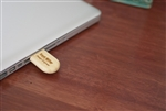 Engraved Bamboo USB Drive 8 GB of Memory