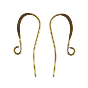 Antique Brass Earwires - 26mm with hook