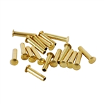 "Brass Miniature Rivet - 3/32"" Assorted Long Shaft Lengths"