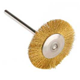 Miniature Wire Wheel Brass 1 Inch
