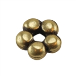 Bronze Plate Beaded Heishi - 4.5mm Pkg - 10