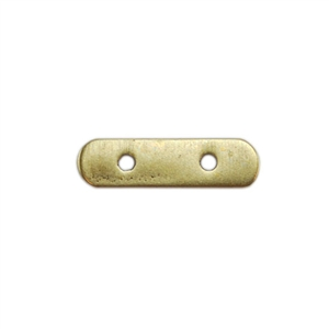Bronze Plate Bar Spacer - Double Strand