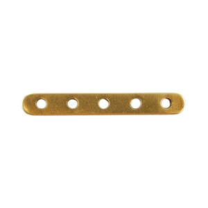 Bronze Plate Bar Spacer - Quintuple Strand