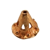 Bronze Bead Cap - Canturbury Bell 4.5mm