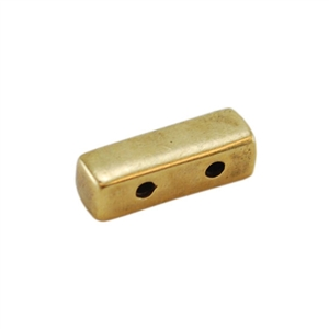 Bronze Plate End Bar - Double Strand - 4mm x 11mm Pkg - 2