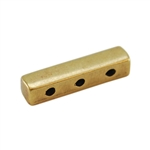 Bronze Plate End Bar - Triple Strand - 4mm x 15mm Pkg - 2