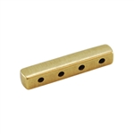 Bronze Plate End Bar - Quadruple Strand - 4mm x 19mm Pkg - 2