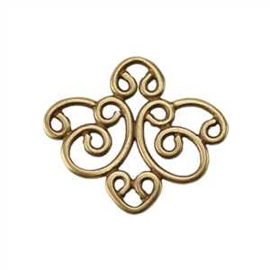 Bronze Plate Connector - Filigree Medium Connector