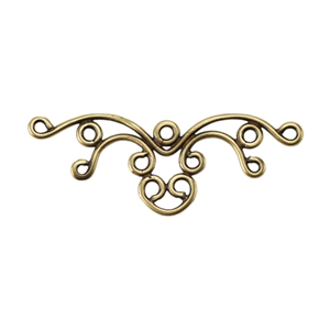 Bronze Plate Connector - Filigree Multi Connector