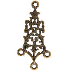 Bronze Plate Connector - Celtic Chandelier 13.5mm x 30mm Pkg - 2