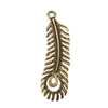 Bronze Plate Charm - Peacock Feather Large