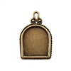 Bronze Plate Pendant - Simple Frame