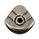 Bronze Plate Pinch Bail - Pyramid 10mm x 9mm Pkg - 2