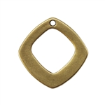 Bronze Plate Charm - Diamond 13mm Pkg - 1