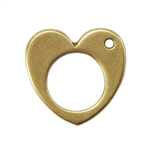Bronze Plate Charm - Heart 13mm Pkg - 1